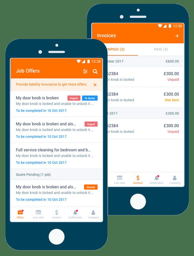 Contractors Mobile App