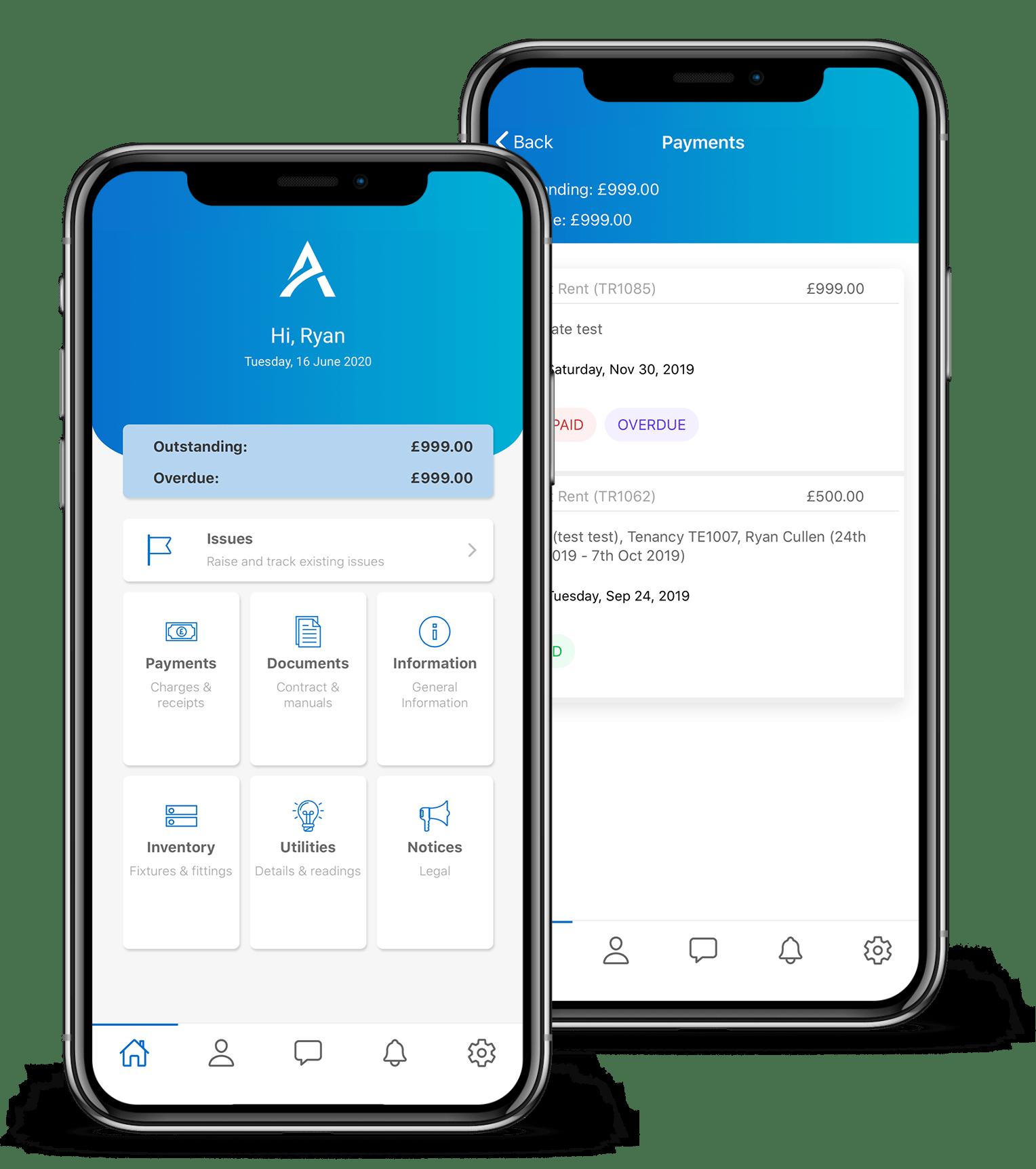 Tenants Mobile App