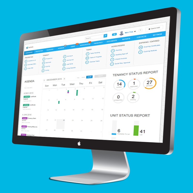Property Manager Software Dashboard