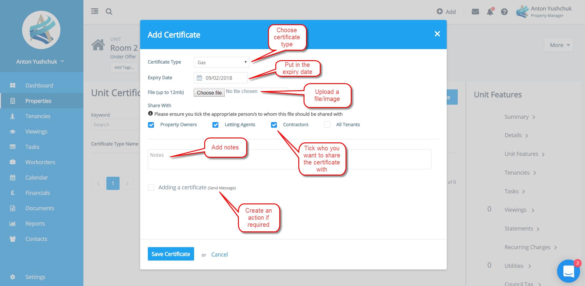 how to add certificates in soapuiapplication