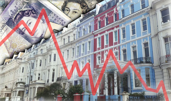 Biggest fall in property prices reported since April 2012