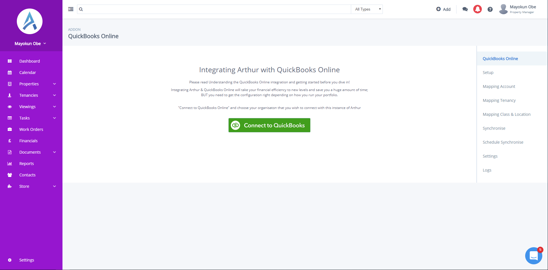 How Integrate Arthur and a Clean Version of QuickBooks Online Plus